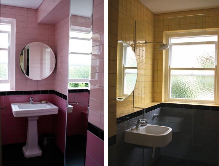 Två färger, två badrum, ett hem