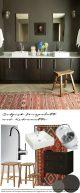badrumsinspiration skapa stilen morkt badrumsdrom belgisk fargpalett kelim badrumsdrommar