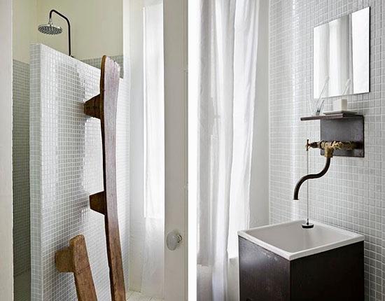 Fransk romantik i litet badrum
