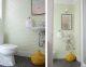 Badrumsinspiration - Tapet på gästtoalett med hexagon