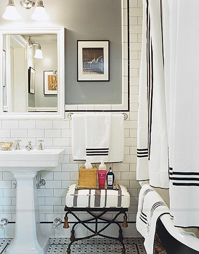 Classic Black And White Bathroom Designs : Bada som chlo? sevigny badrumsdr?mmar