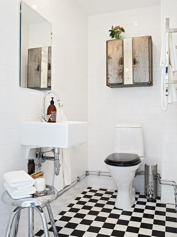 Wohnideen Zeitschriften litet badrum i lantlig industriell stil badrumsdrömmar
