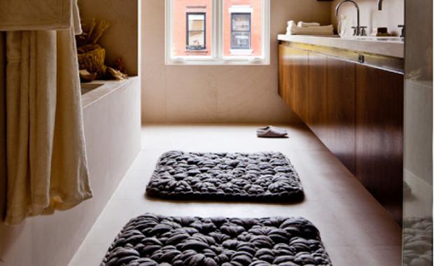 Badrum badrum matta : Virkad badrumsmatta som detalj | Badrumsdrömmar