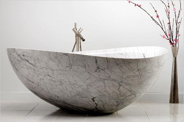 Natursten på olika sätt i badrummet | Badrumsdrömmar : badkar sten : Badkar