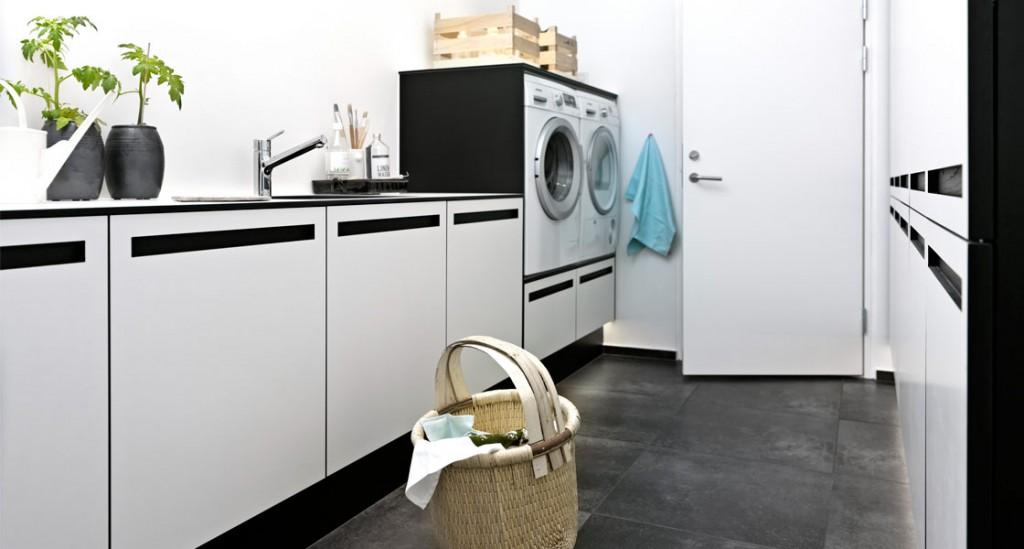 Strama linjer i tvättstugan