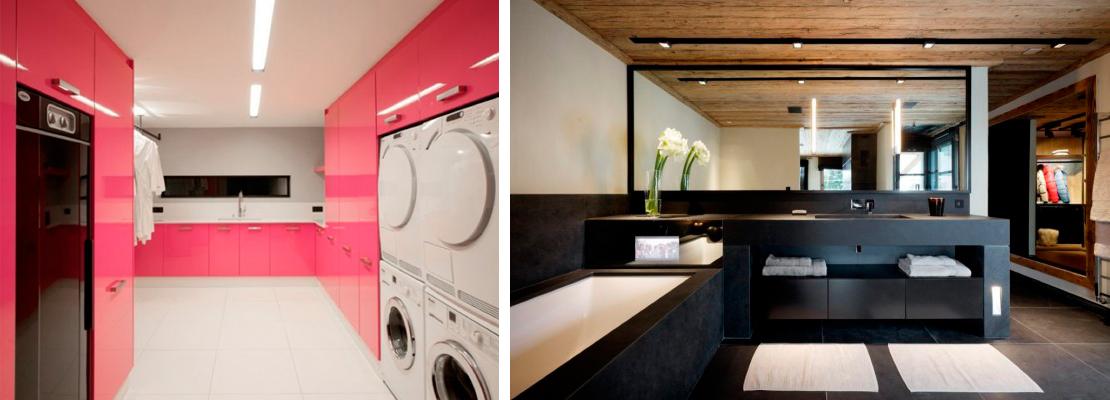 Badrum tvättstuga badrum : Rosa tvättstuga i franska Alperna | Badrumsdrömmar