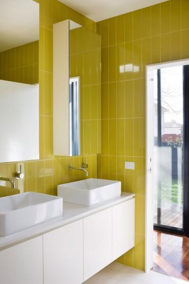 Limegrönt i badrummet
