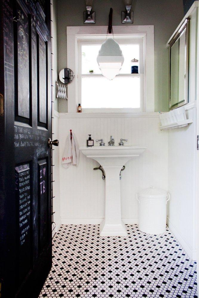 Viktoriansk toalett med djärva inslag