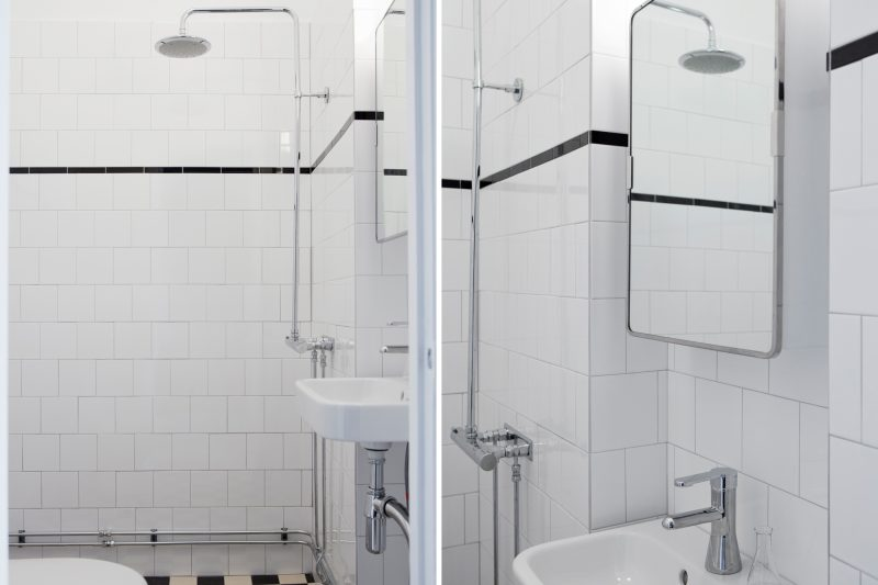 utvändig rördragning badrum