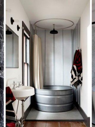 koppla in tvättmaskin i dusch