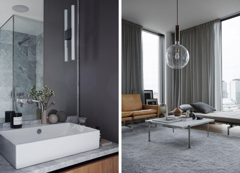 Badrum grå badrum inspiration moderna badrum tvättstuga vita ...