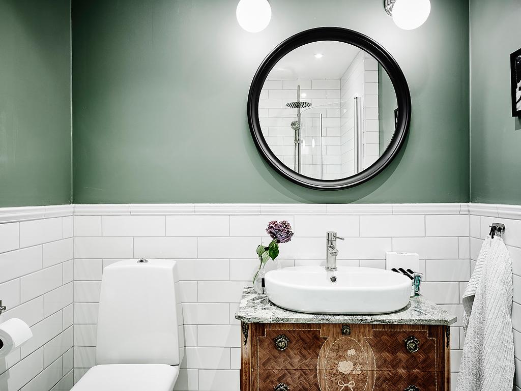 Grönt badrum som du inte får missa! | Badrumsdrömmar : kakla om badrum : Badrum