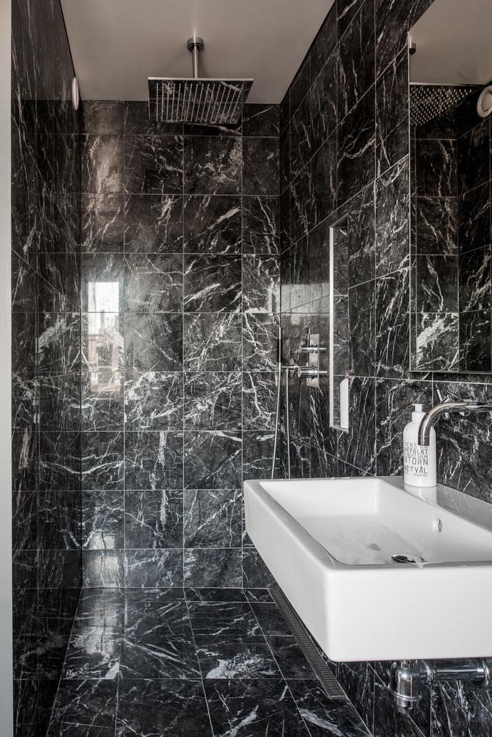 Svart marmor kakel