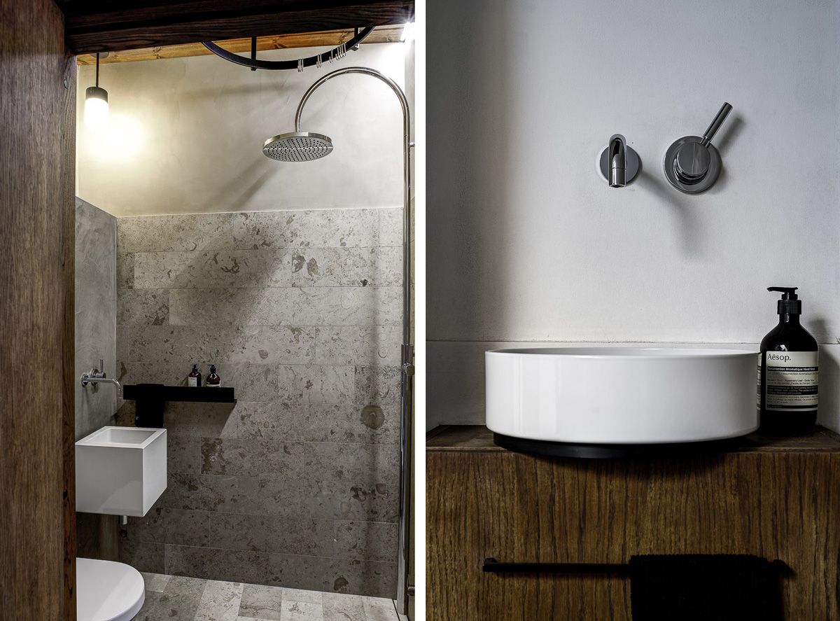 Perfekta små badrum i kalksten Badrumsdrömmar