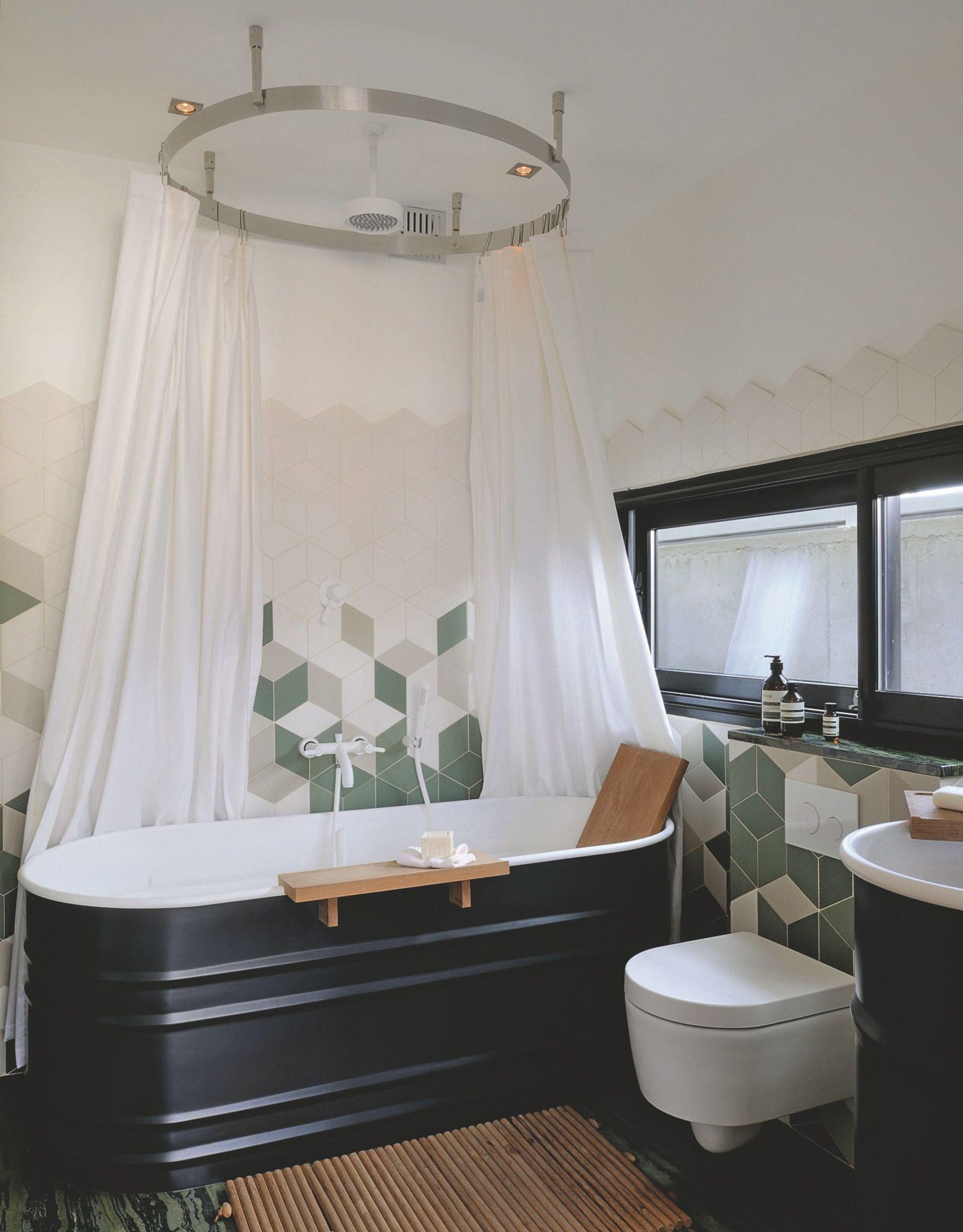 Modernt med gr nt i badrum badrumsdr mmar for Agape salle de bain
