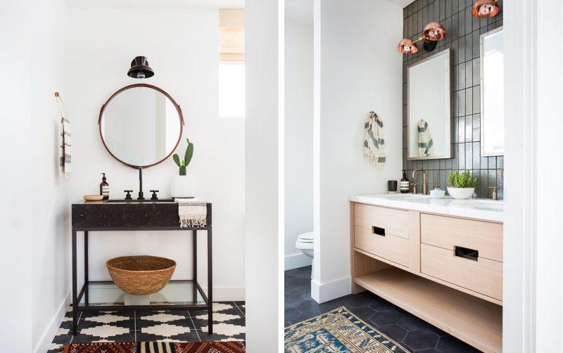 Badrumsinspiration - badrum efter small bathroom after badrumsrenovering  tvattstall benstallning amber interior design foto tessa neustadt a6a6f73ce7475