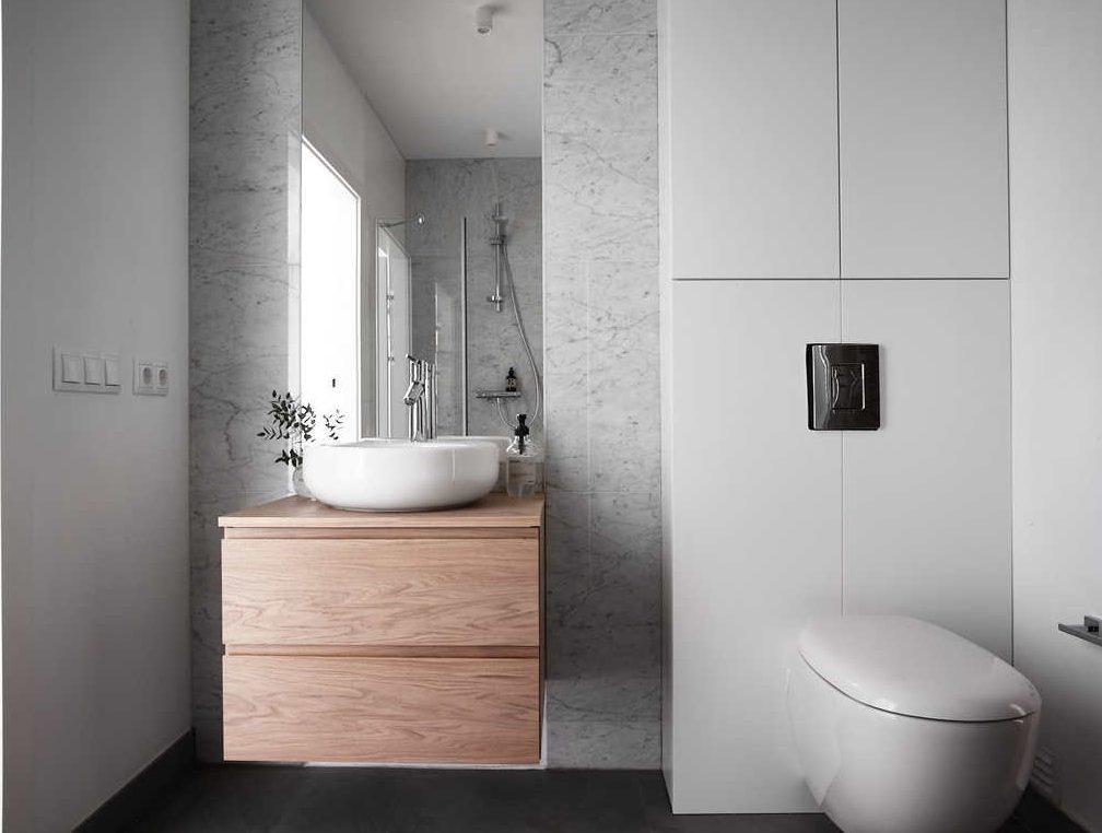 Naturnära badrum i modern villa - Badrumsdrömmar