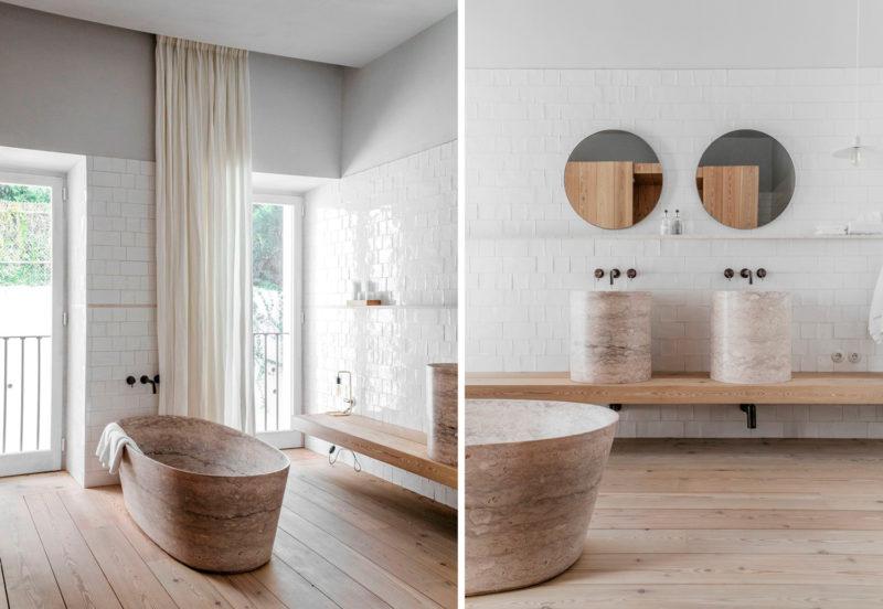 Badrumsinspiration - Modernt rustikt badrum med sandsten och stenbadkar på  hotell Santa Clara 1728 i Portugal af7d0fad17fba