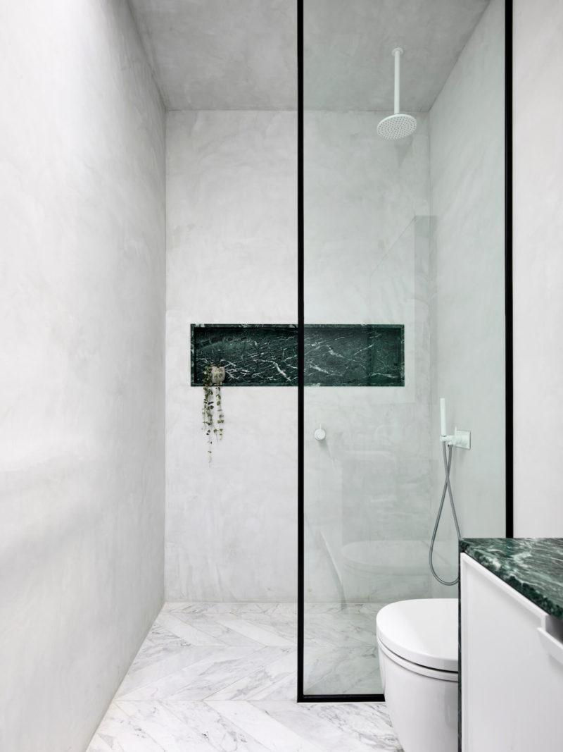 duschvägg svart ram