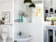 badrumsinspiration litet badrum inspiration gasttoalett liten toalett diy stor spegel badrumsdrommar