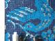 Badrumsinspiration - Blå mosaik på gästtoalett