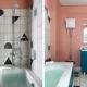 badrumsinspiration rosa badrum litet badrum inbyggt badkar carrara hogspolande toalett hemma hos beata heuman foto simon brown badrumsdrommar