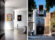 badrumsinspiration rustikt modernt hem betonggolv takskena spotlights modern husfasad plat chimney House redfern atelier DAU foto tom ferguson badrumsdrommar